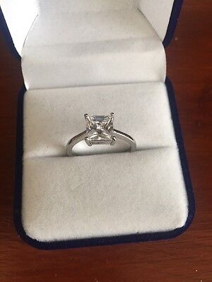 925 Sterling Silver Engagement Ring  Size- O