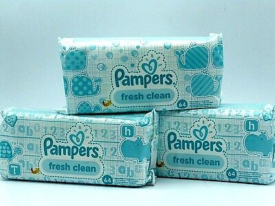 Pampers Fresh Clean Feuchttücher, 768 Tücher, 12er Pack, R1.598