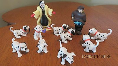 Disney's 101 Dalmations Dog Playset Cake Toppers-Cruella PVC Figures-11 Pieces