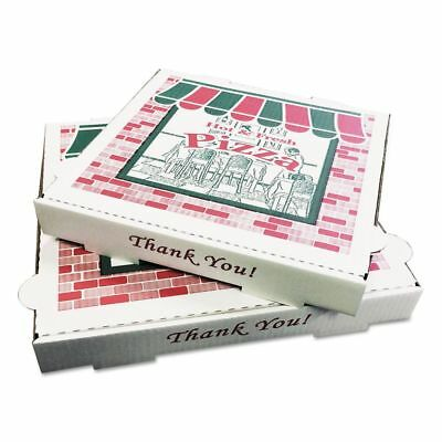 PIZZA Box Takeout Containers, 16in Pizza, White, 16w x 16d x 2 - BOXPZCORB16