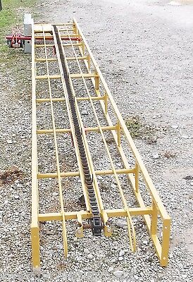 NEW 20 FT SQUARE HAY BALE ELEVATOR WITH NEW ELECTRIC  MOTOR *We Ship Cheap*