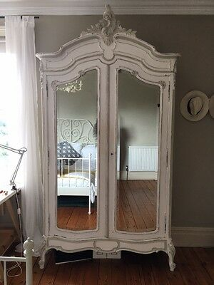 Antique Painted French Wardrobe Armoire