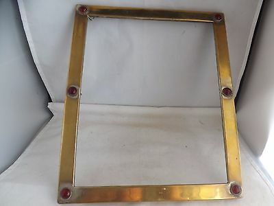 a fine vintage gold plated stone set picture frame in art nouveau style