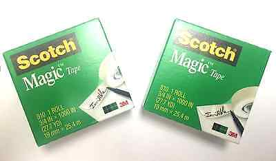 2 ROLLS Scotch Magic Tape by 3M, 810 3/4 inch by 1000 inches  FREE SHIPPIN