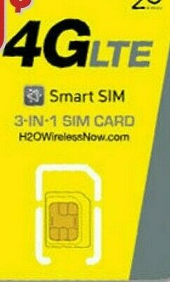 2 H20 H2o SIM Cards Wireless 3-in-1 Triple Mini Micro Nano 4G LTE Smart TRACKING