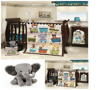 Bedtime Originals Plush Elephant Toy Pillow Soft Stuffed For Baby Toddler Infant