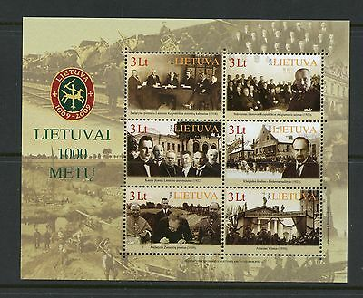 Lithuania 2008  #869  1000th Anniversary   sheet  MNH  K694