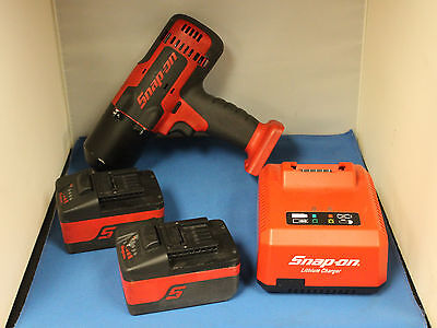 """Snap-On 1/2"""" Drive 18V Cordless Impact Wrench Kit (CT8850) - Red/Black"""