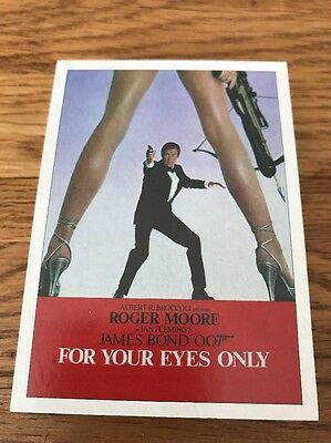 James Bond 007 Archives Final Edition For Your Eyes Only Set 36 Cards