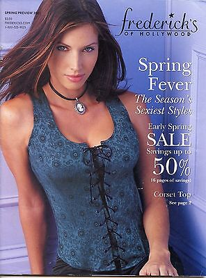 Frederick's of Hollywood Spring Preview 2002 Vintage Lingerie Catalog