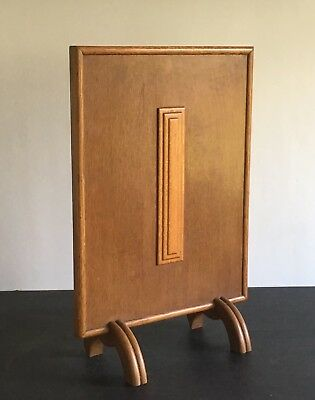 Vintage Wooden Art Deco Fire Screen Made of Oak