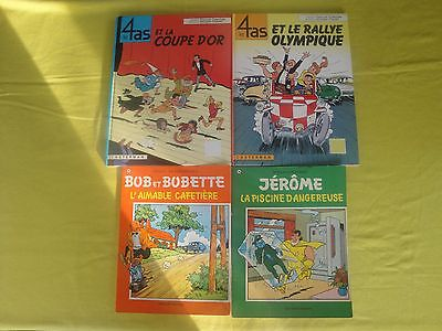 Lot 16. 4 albums bd - 4 as + Jérome + Bob & Bobette