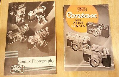 Contax photography book & ZEISS IKON contax with zeiss lenses book