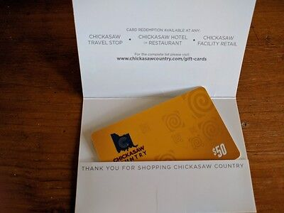Chickasaw Country Gift Card $50 Oklahoma Fast Free Shipping