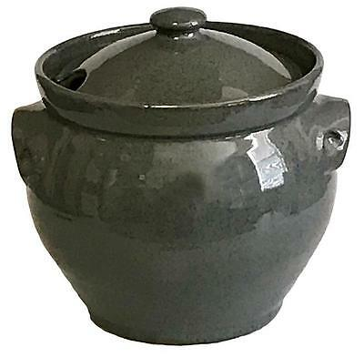 OLD TIME POTTERY Gray Covered Glazed Soup Tureen - Made in USA