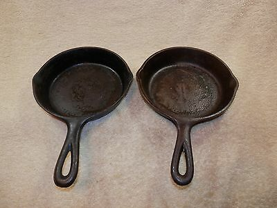 Vintage PAIR of  Small No. 3 Cast Iron Frying Pans