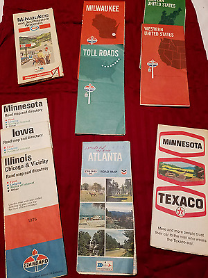 Late 60's - Mid 70's Gas Station Road Maps