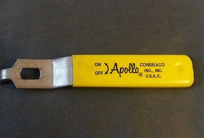 Apollo Conbraco IND. 6inch Steel Ball Valve Yellow Replacement Handle