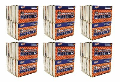 60 Boxes of Wooden Penny Matches, Strike on Box Kitchen Matches, 1920 Matches