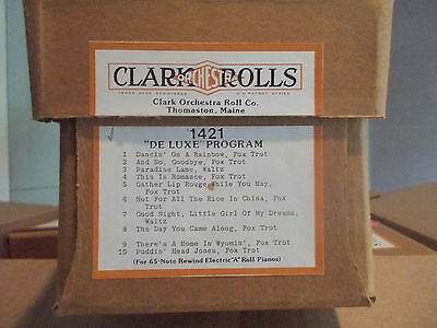 "CLARK Nickelodeon Music Roll  #1421 DE LUXE PROGRAM"" -  #200"