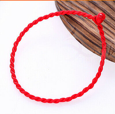 2 pc/lot Red hand-woven wholesale DIY red rope benmingnian rope bracelet fash...