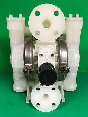"Used Wilden 1"" Polypropylene P2 Double Diaphragm Pump P2/PKPPP/TNU/TF/PTV/0400"