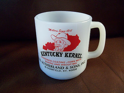 Glasbake Kentucky Kernel advertising mug cup Bloomfield KY