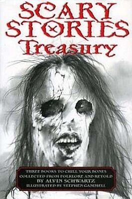 (NEW) Scary Stories SET Treasury To Tell In the Dark Alvin Schwartz Gammell 3in1