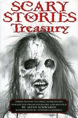 Scary Stories Treasury: Three Books To Chill Your Bones Gammell Schwartz *NEW