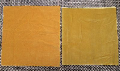 2 Small Panels Of Vintage Old Gold Velvet Fabric Craft Sewing Projects
