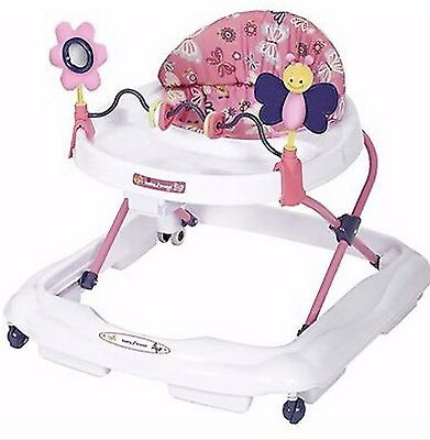 BABY TREND Walker Pink White Purple Emily Infant Safety Toddler butterfly seat