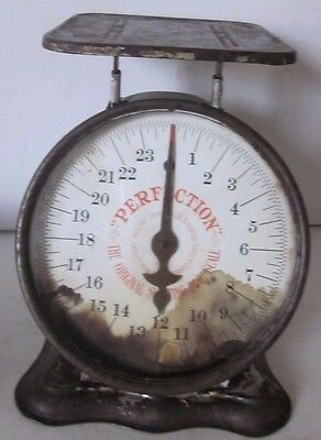 Antique PERFECTION Slanting Scale Patd.May 1906 U.S.A. Works w/ Basket Baby 24Lb