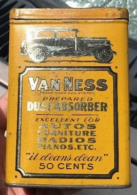 Super Rare Van Ness Dust Absorber Can Tin