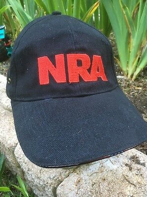 NRA Cap National Rifle Association Black Red Baseball Hat Cap Embroidered NWT