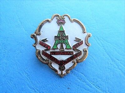 WW1 The Yorkshire Regiment White Faced Enamel Sweetheart Brooch Badge Pin