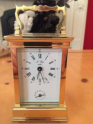 Stunning Brass French Carriage Clock With Alarm. Stored, Never Used.