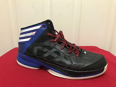 Men's Adidas Crazy Shadow Basketball Shoes Black Blue Red White G56456 Size 10