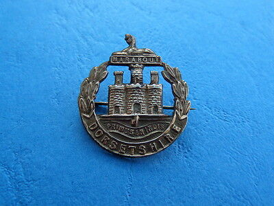 WWI The Dorsetshire Regiment Brass Sweetheart Brooch Badge Pin