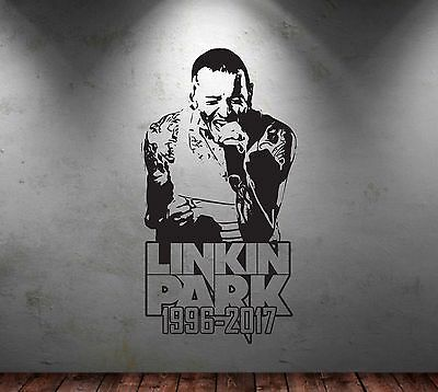 Large Linkin Park Wall Art Chester Bennington Sticker Rock Decal Numb In the End