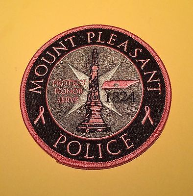 Pink Patch - Mount Pleasant Police Department - Tennessee