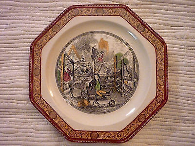 Dickens Hexagonal Salad Plate MR PICKWICK AT Pound  Adams in RUST Old Backstamp