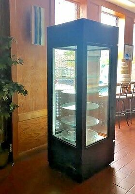 True G4SM-23-RGS-LD Four Sided Glass Door Merchandiser with Rotating Glass Shelf