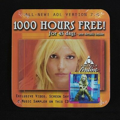 AOL America Online Version 7.0 Britney Spears CD – New, Sealed and Rare!
