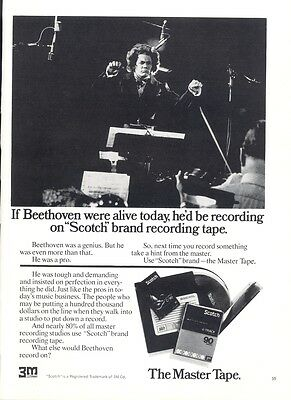 The Master Tape - If Beethoven were alive Advertisement 1974 Magazine Print - Ad