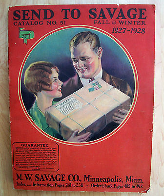antique 1927-28 W M SAVAGE Winter CATALOG Art Deco CLOTHES/TOYS/GUNS Ex Cond vtg