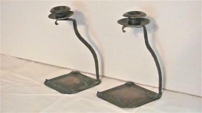 Ultra RARE  arts and crafts pair of Carl Sorensen marked copper candlesticks!!
