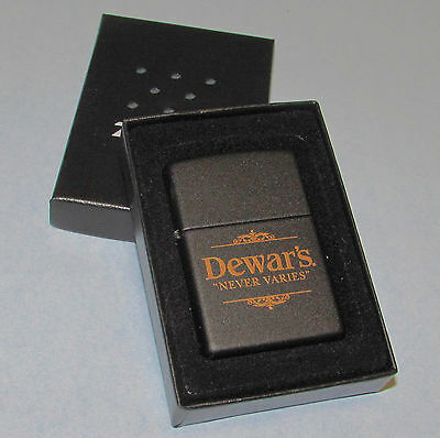 Unused Zippo Dewar's Never Varies Lighter w/Box New Condition