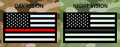 """FWD USA THIN RED LINE REFLECTIVE 3M solasX 3.5""""X2"""" WITH VELCRO® BRAND FASTENER"""