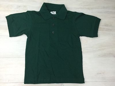 School Uniform Shirt S/S Unisex Boys and Girls Green Size 3-4 Y2XS New Lot of 4