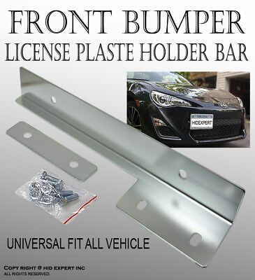 PIA FORD Silver Aluminum Bumper Front License Plate Mount Relocate Bracket CO34